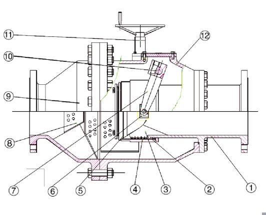 9 出口管 钢 10 阀轴 不锈钢 11 驱动机 德国auma或客户指定 12 阀体图片